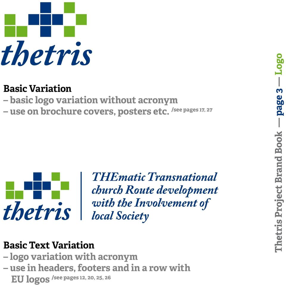 Basic Text Variation logo variation with acronym use in headers,