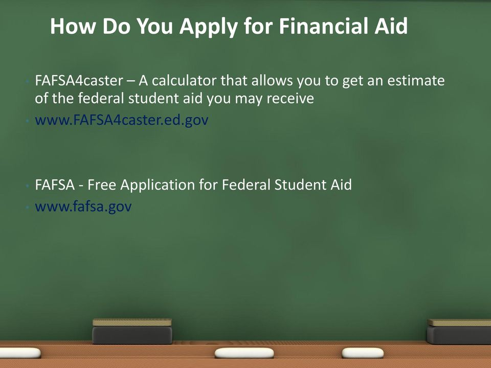 federal student aid you may receive