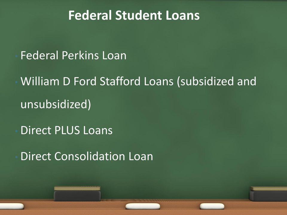Loans (subsidized and unsubsidized)