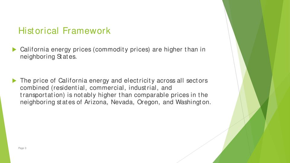 The price of California energy and electricity across all sectors combined (residential,