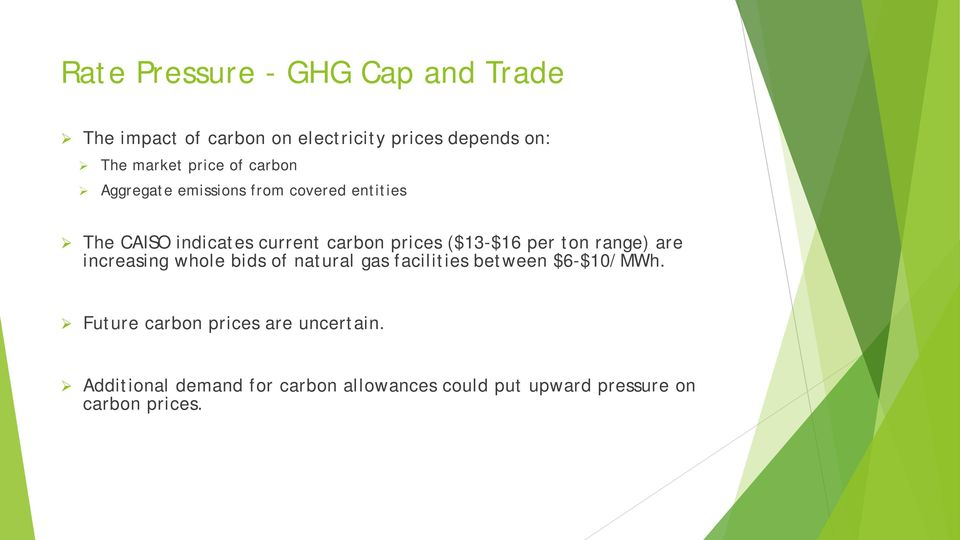 ($13-$16 per ton range) are increasing whole bids of natural gas facilities between $6-$10/MWh.