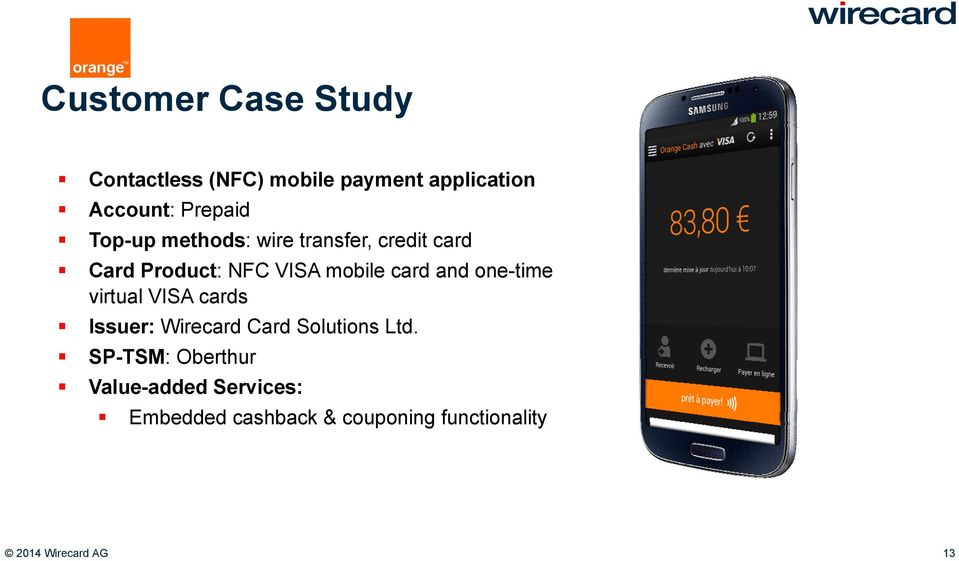 one-time virtual VISA cards Issuer: Wirecard Card Solutions Ltd.