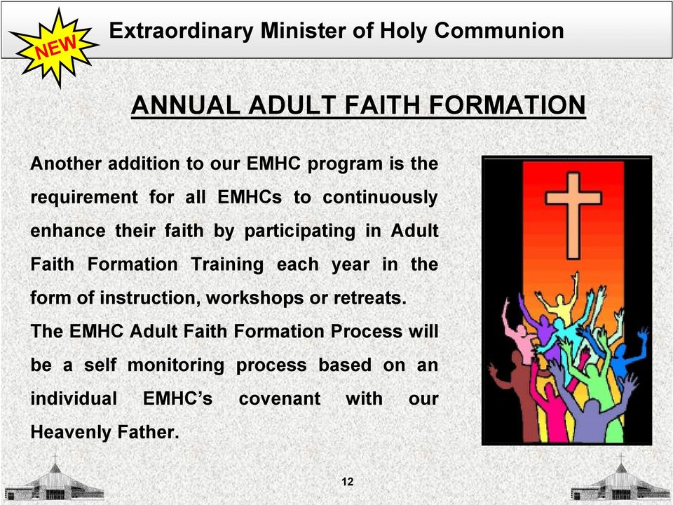 Faith Formation Training each year in the form of instruction, workshops or retreats.