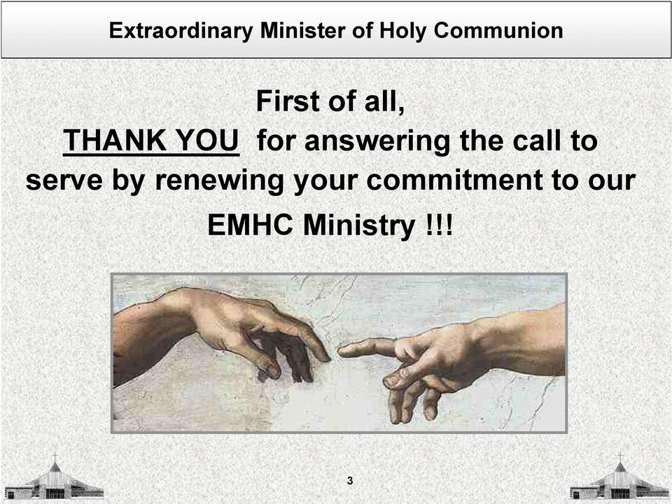 by renewing your commitment