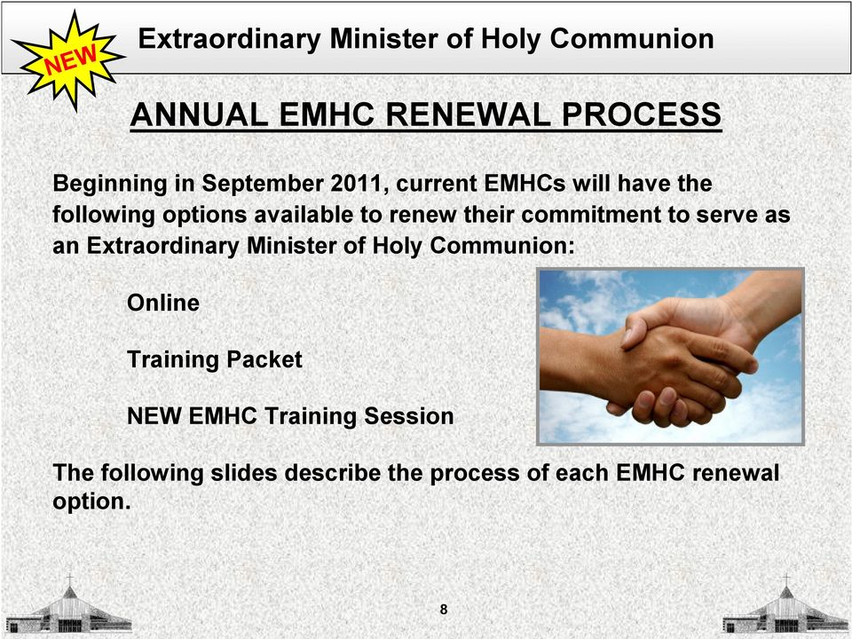 commitment to serve as an Extraordinary Minister of Holy Communion: Online Training Packet