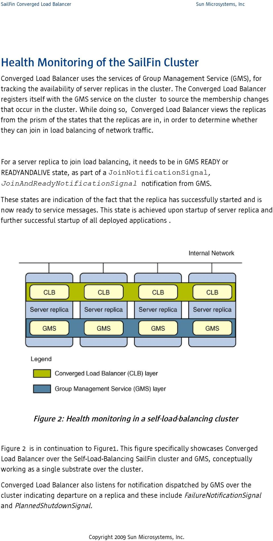 While doing so, Converged Load Balancer views the replicas from the prism of the states that the replicas are in, in order to determine whether they can join in load balancing of network traffic.