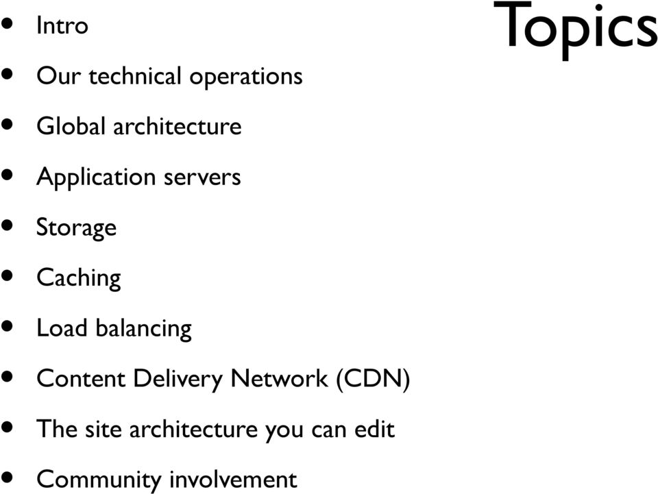 Load balancing Content Delivery Network (CDN)
