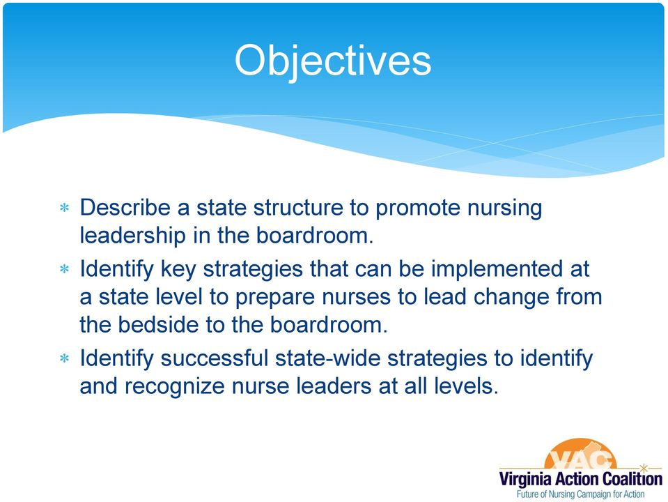 Identify key strategies that can be implemented at a state level to prepare