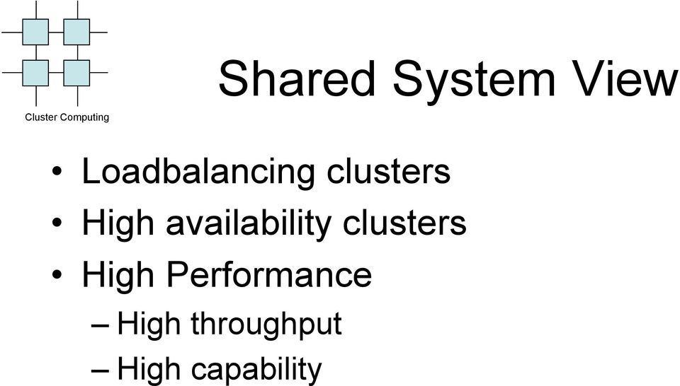 availability clusters High