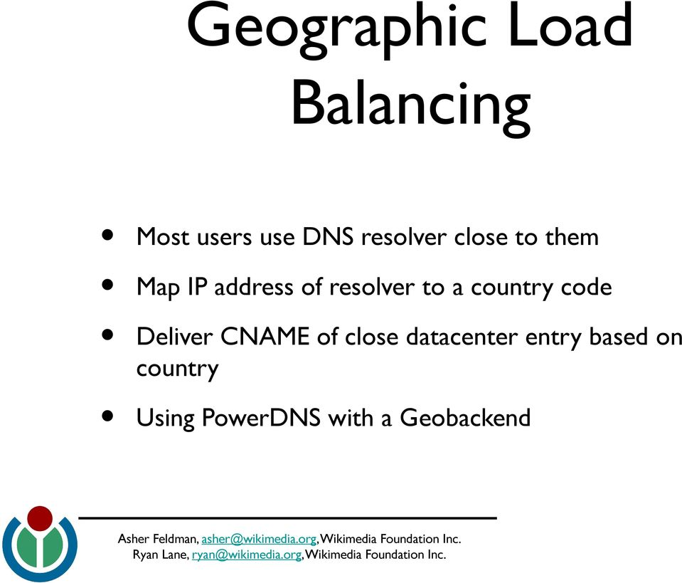 Geobackend Map IP address of resolver to a country