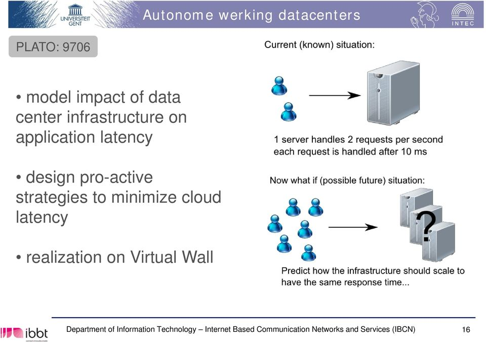 minimize cloud latency realization on Virtual Wall Department of