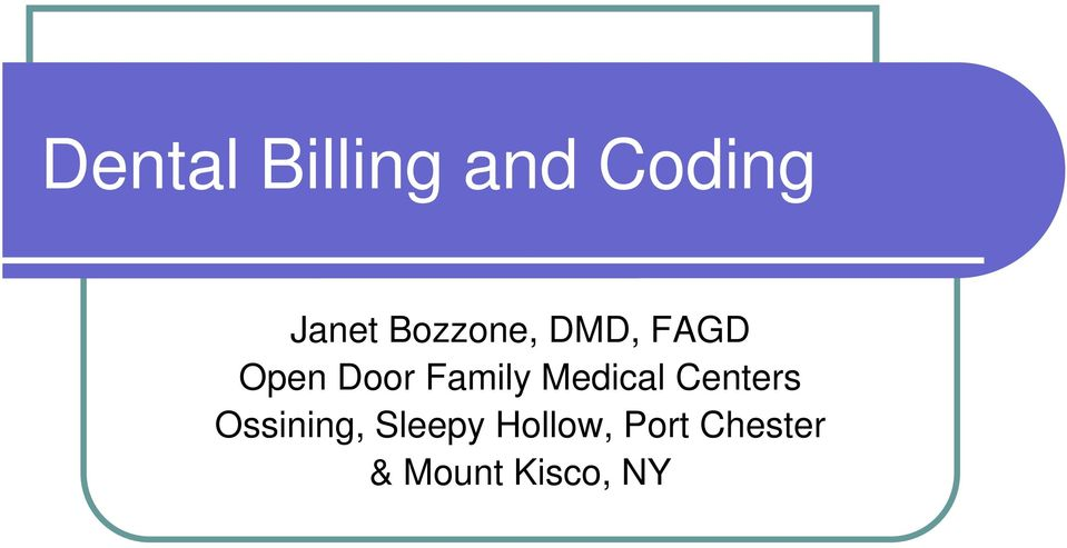 Family Medical Centers Ossining,