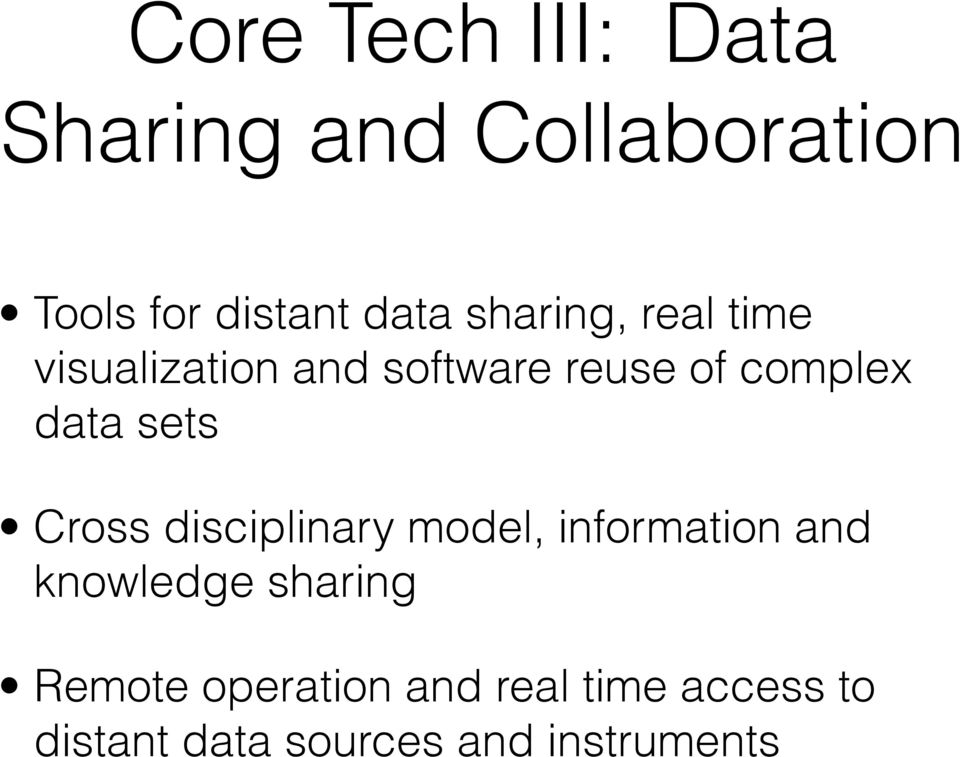 sets Cross disciplinary model, information and knowledge sharing