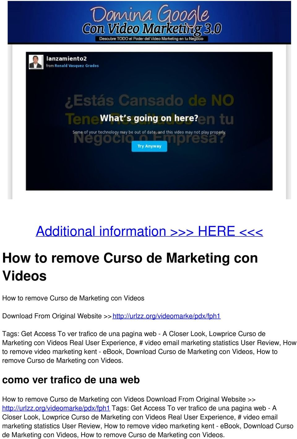 How to remove video marketing kent - ebook, Download Curso de Marketing con Videos, How to remove Curso de Marketing con Videos.