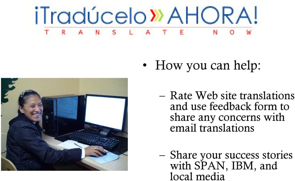 share any concerns with email translations