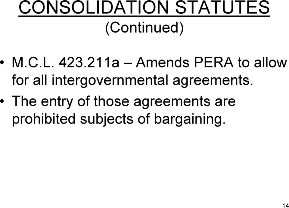 intergovernmental agreements.