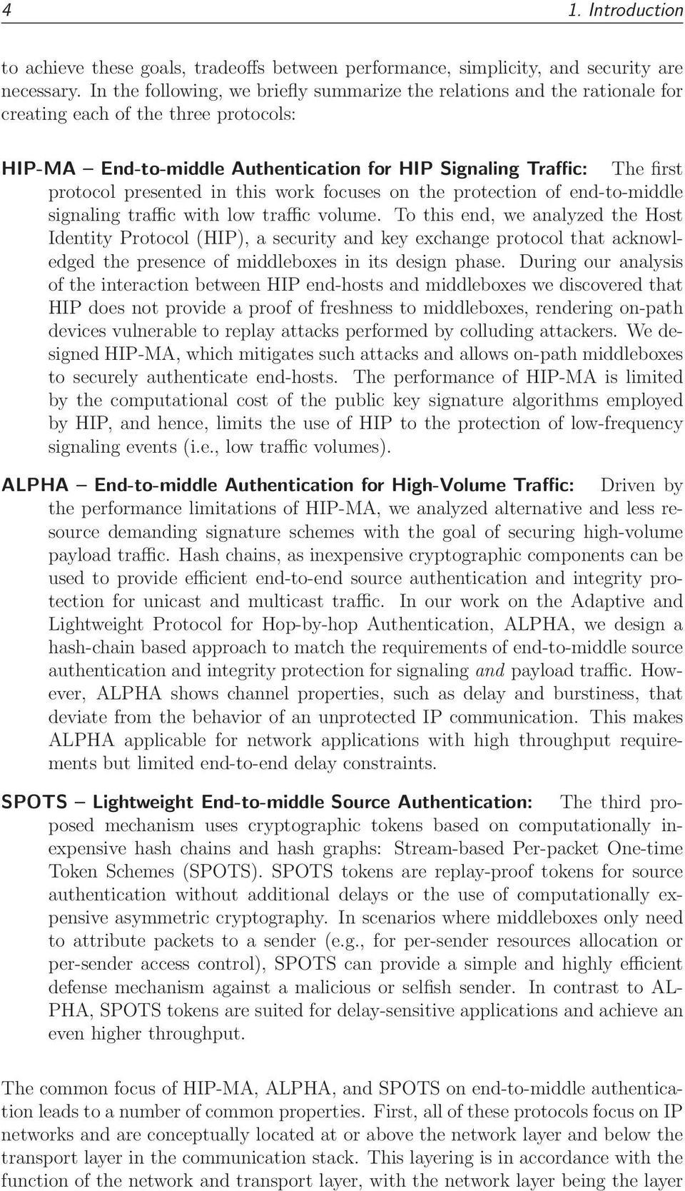 presented in this work focuses on the protection of end-to-middle signaling traffic with low traffic volume.