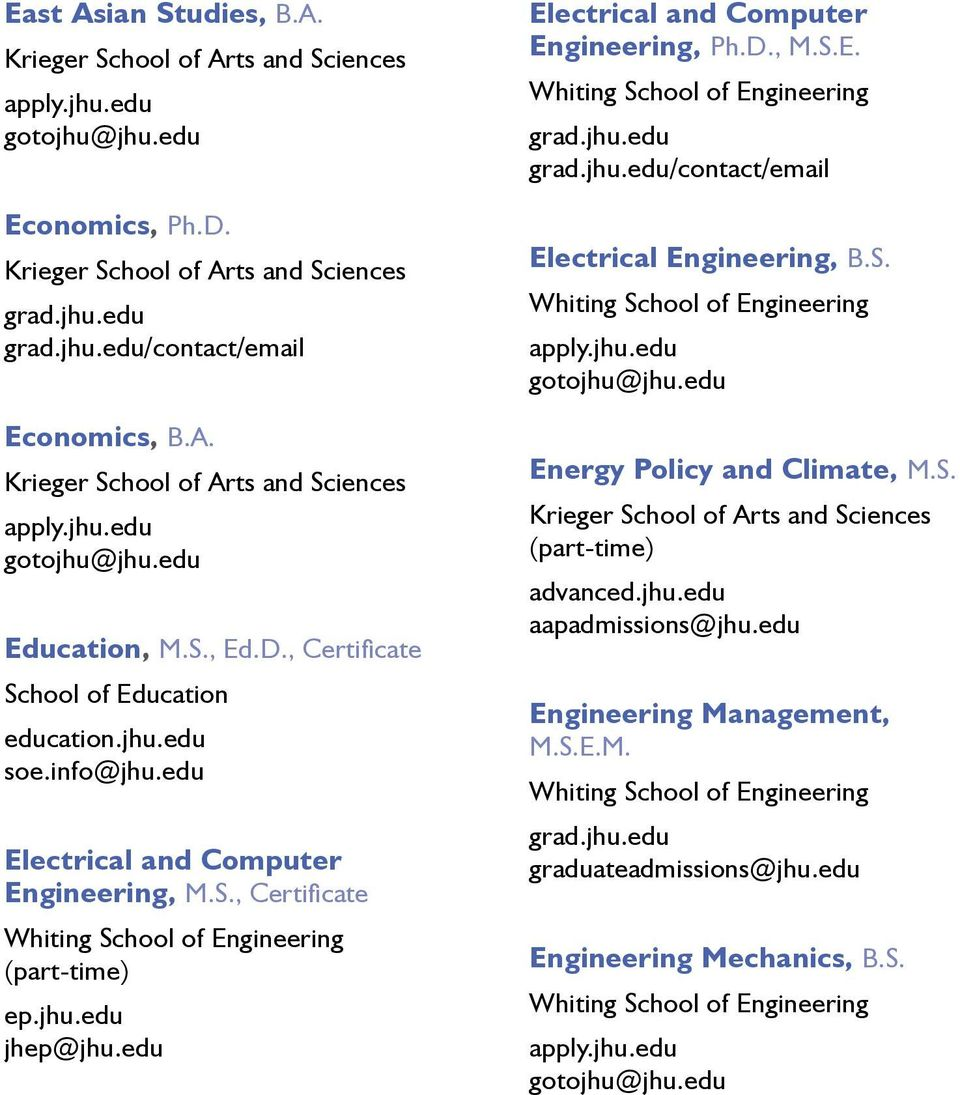 , Certificate Electrical and Computer Engineering, Ph.D., M.S.E. /contact/email Electrical Engineering, B.S. Energy Policy and Climate, M.