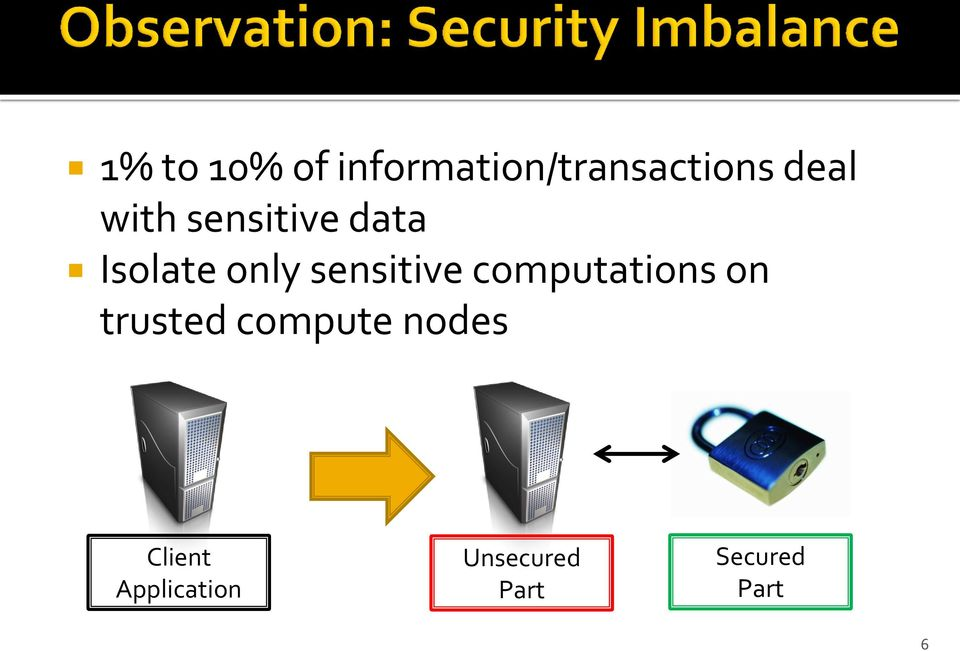 computations on trusted compute nodes