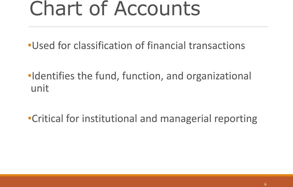 fund, function, and organizational unit
