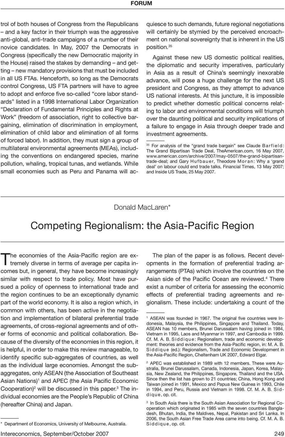 regionalism trade and economic development in the asia pacific region siddique m a b