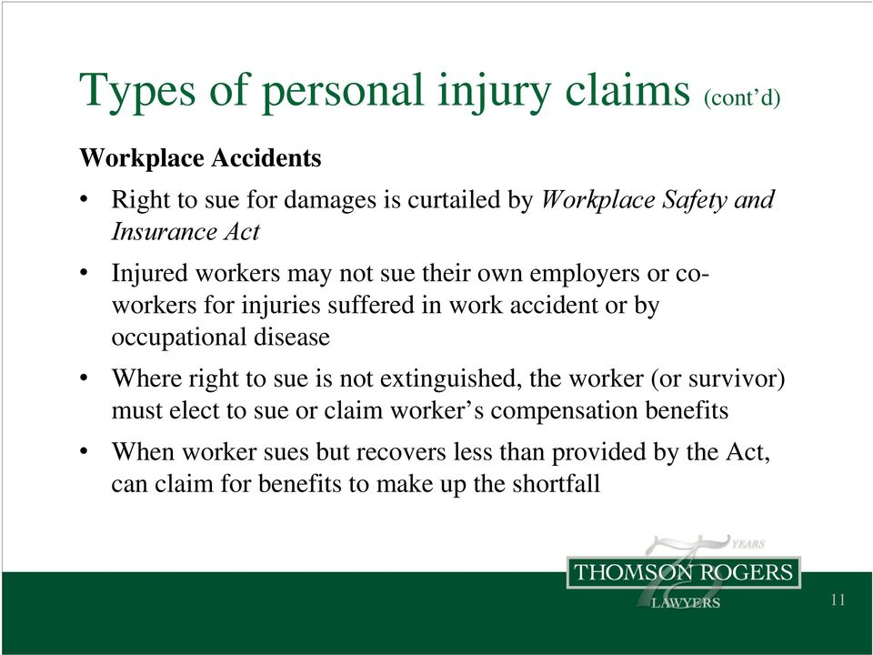 occupational disease Where right to sue is not extinguished, the worker (or survivor) must elect to sue or claim worker s