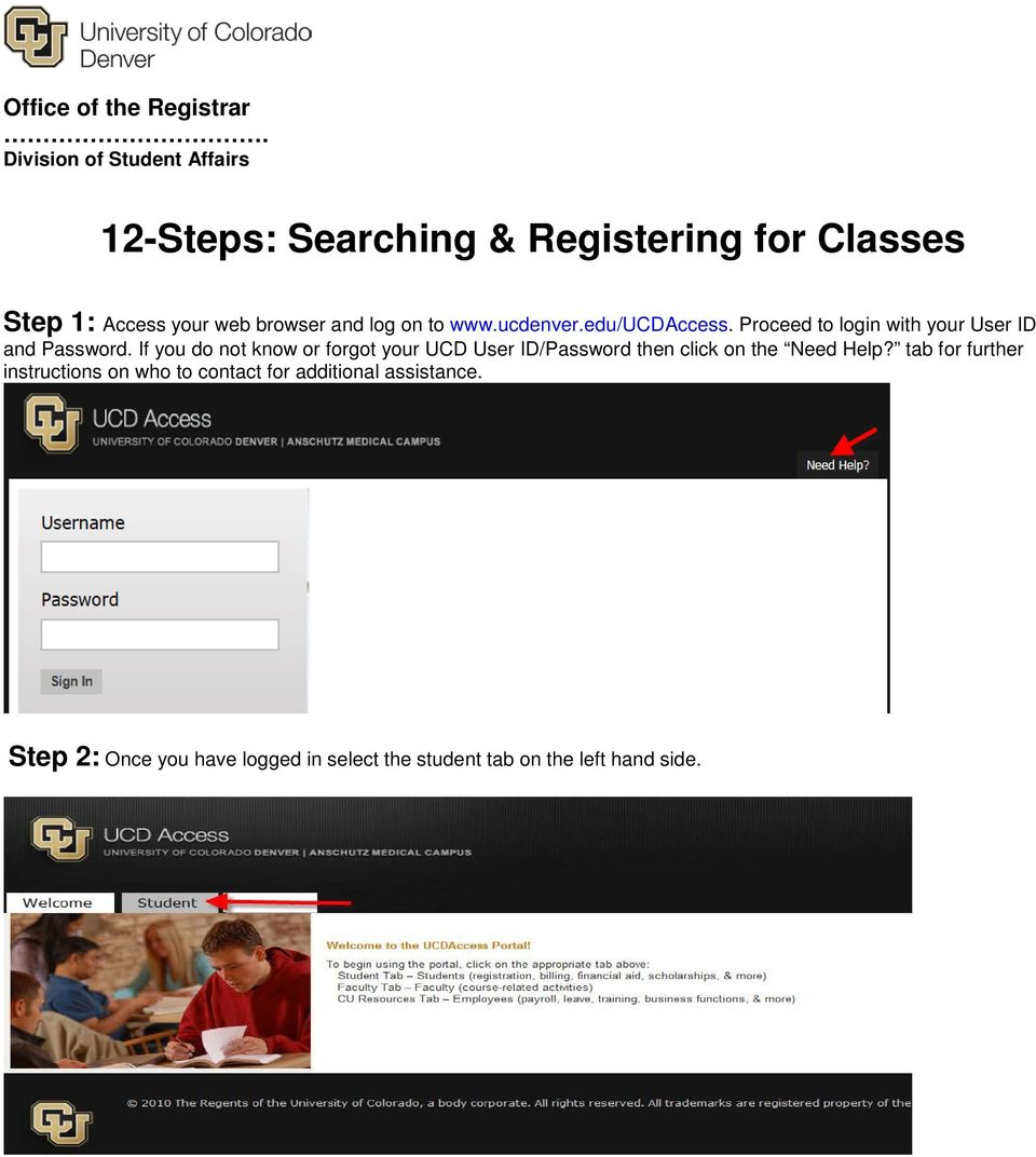 12 Steps Searching Registering For Classes Pdf