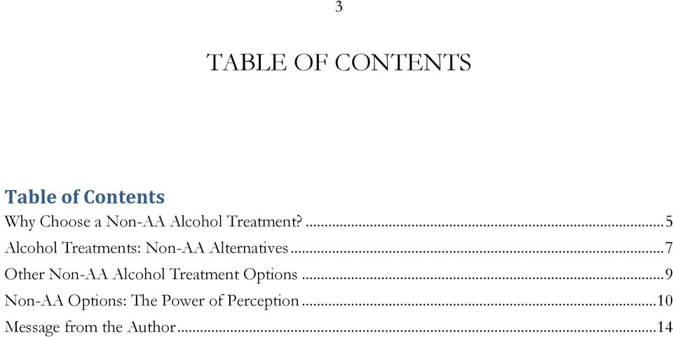 .. 7 Other Non-AA Alcohol Treatment Options.