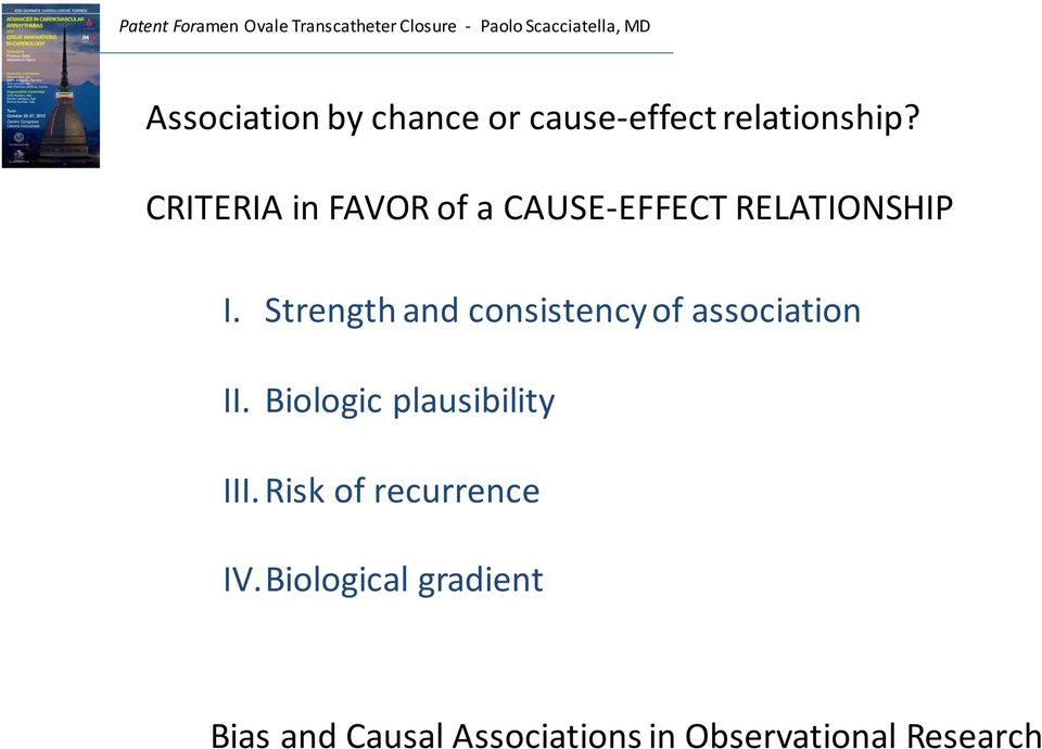 Strength and consistency of association II.