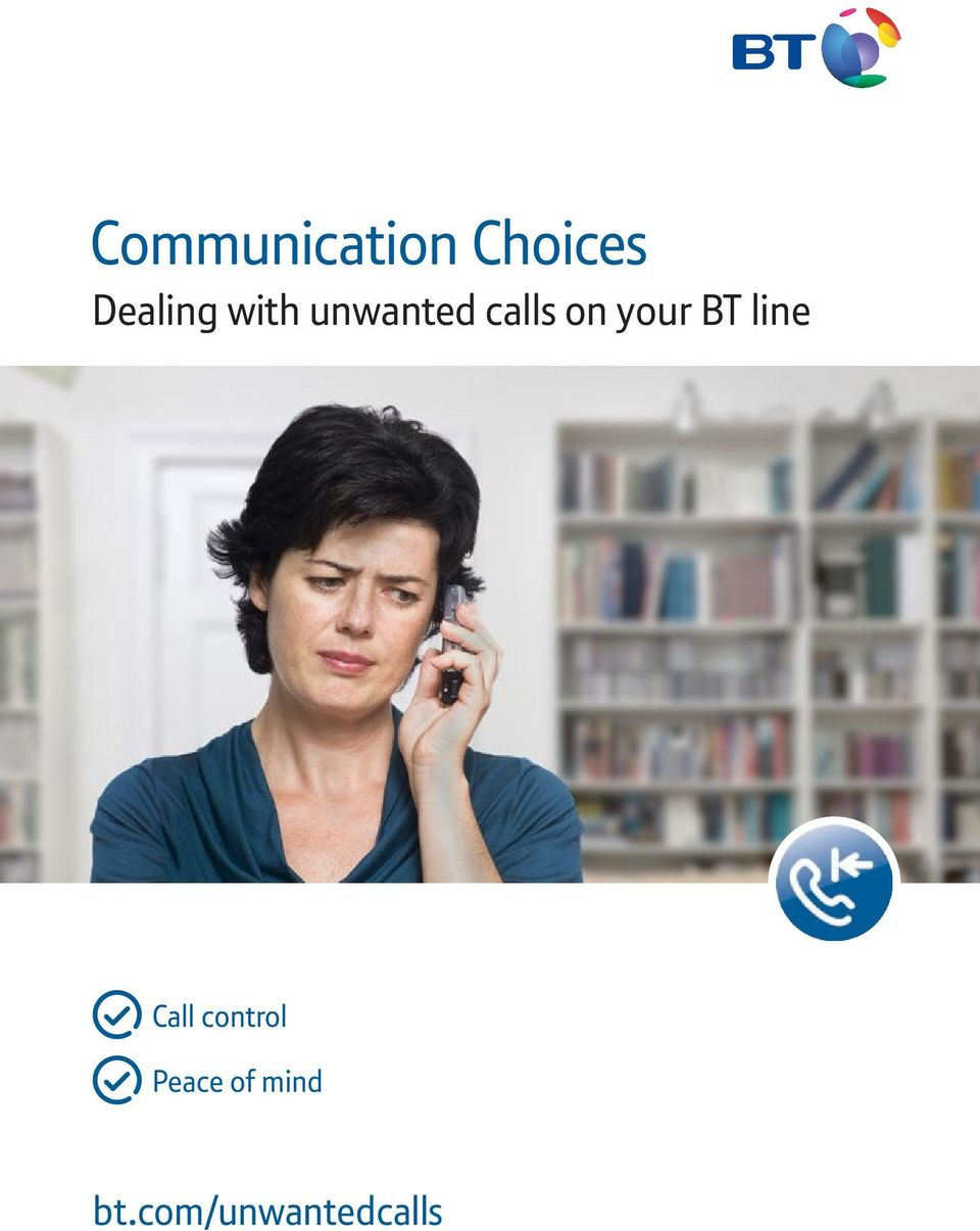 on your BT line Call control