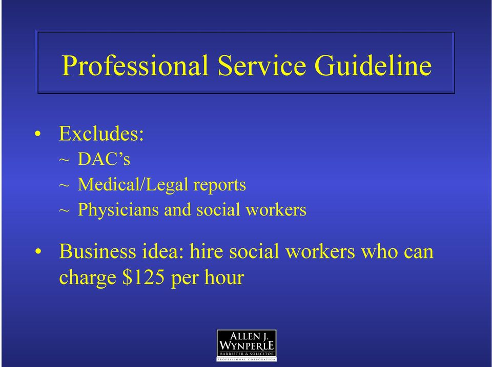 Physicians and social workers Business
