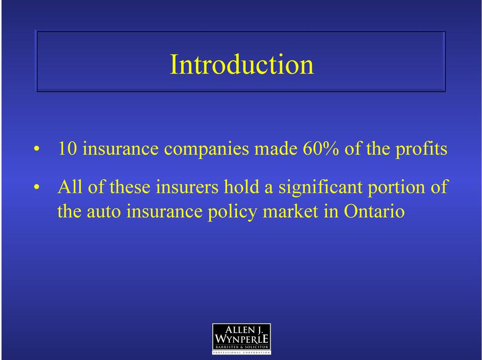 insurers hold a significant portion of