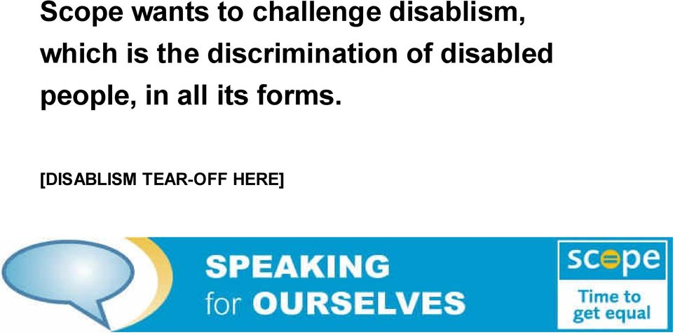 discrimination of disabled
