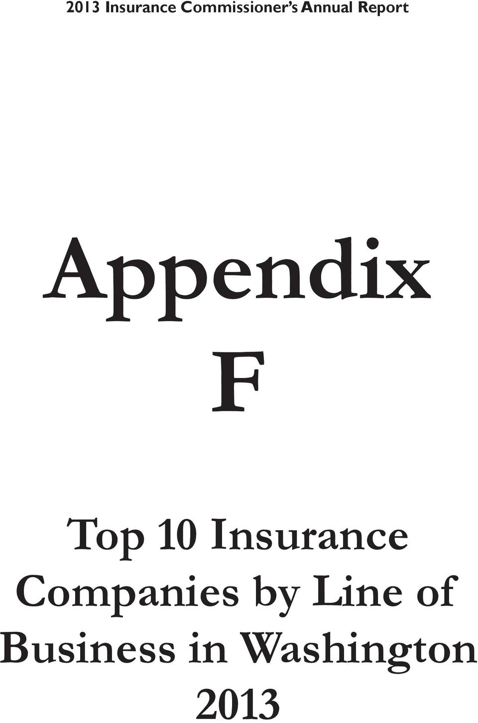 Top 10 Insurance by Line of
