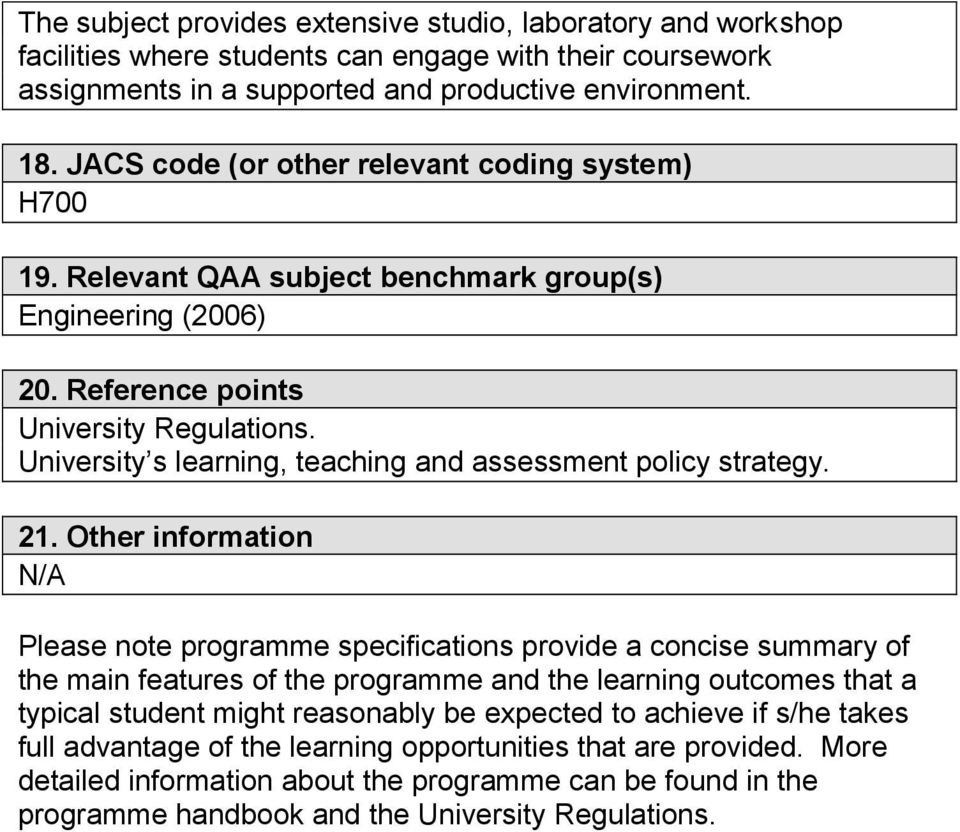 University s learning, teaching and assessment policy strategy. 21.