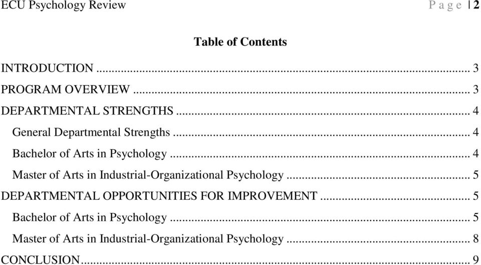 .. 4 Master of Arts in Industrial-Organizational Psychology.