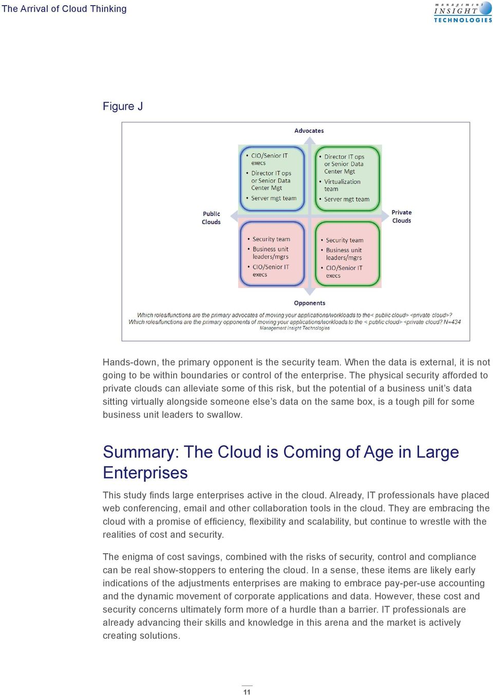 tough pill for some business unit leaders to swallow. Summary: The Cloud is Coming of Age in Large Enterprises This study finds large enterprises active in the cloud.