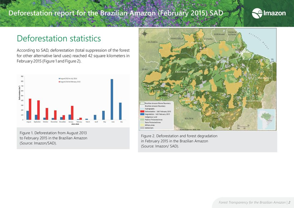 Deforestation from August 2013 to February 2015 in the Brazilian Amazon Figure 2.