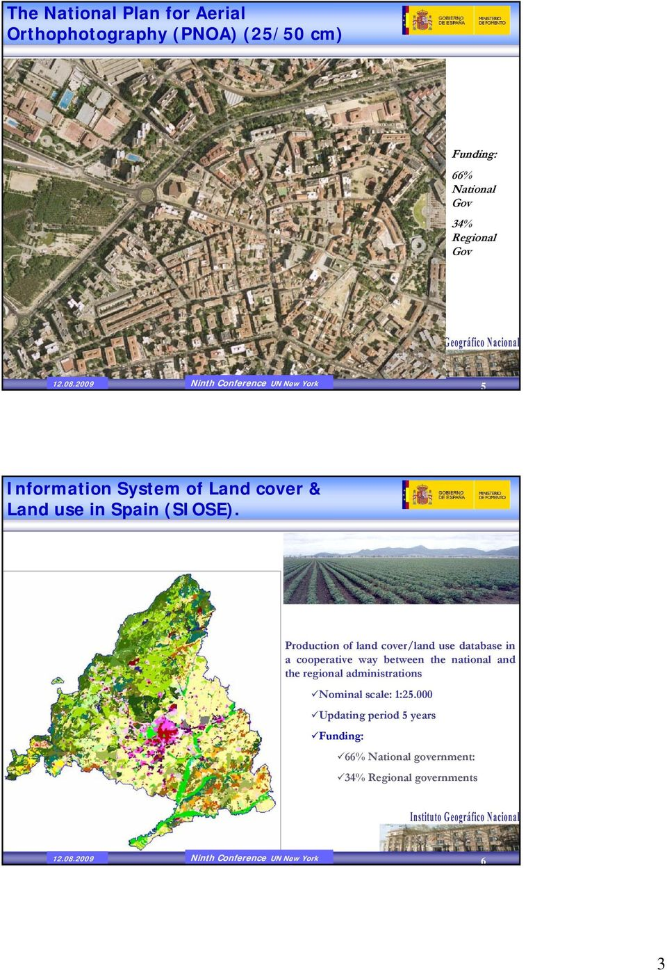 Production of land cover/land use database in a cooperative way between the national and the regional