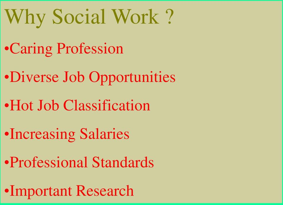 Opportunities Hot Job Classification