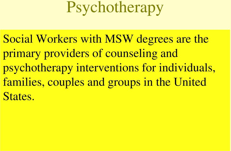 psychotherapy interventions for individuals,