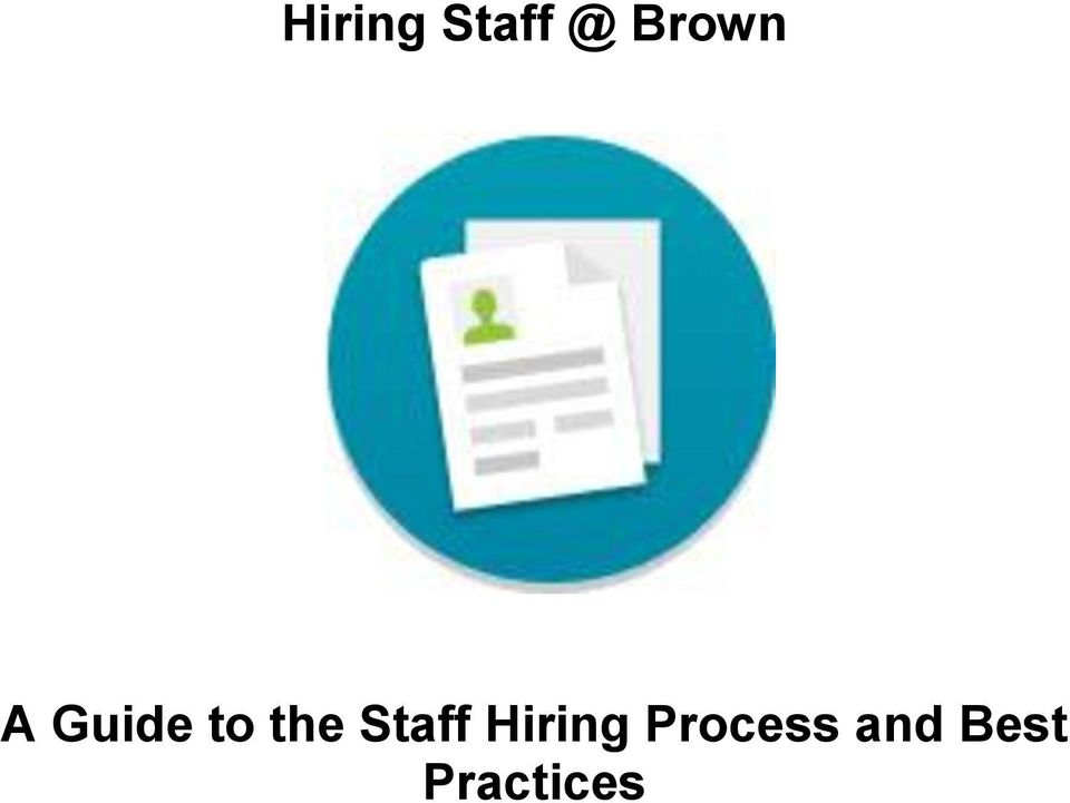 the Staff Hiring