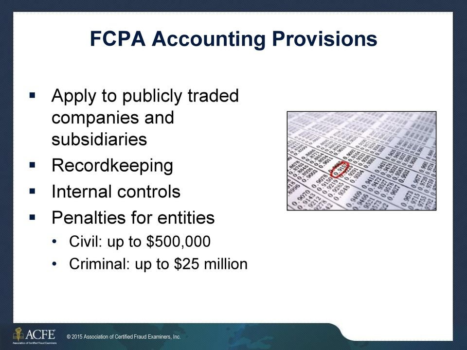 Penalties for entities Civil: up to $500,000 Criminal: up to