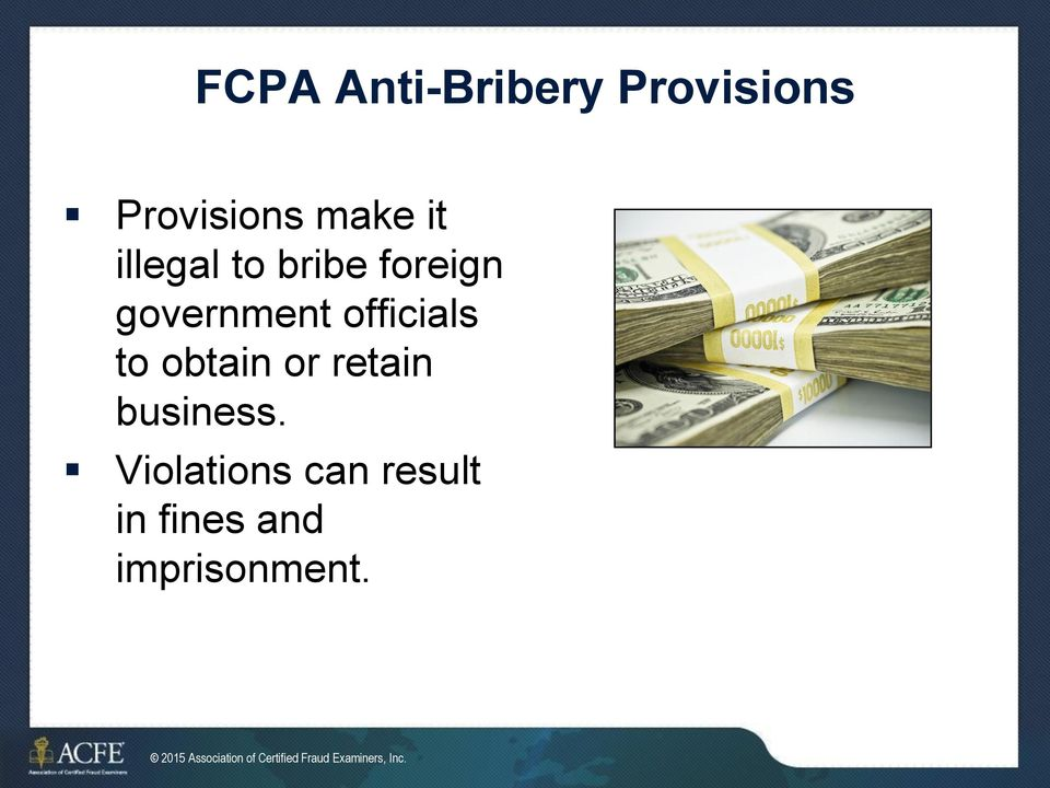 business. Violations can result in fines and imprisonment.
