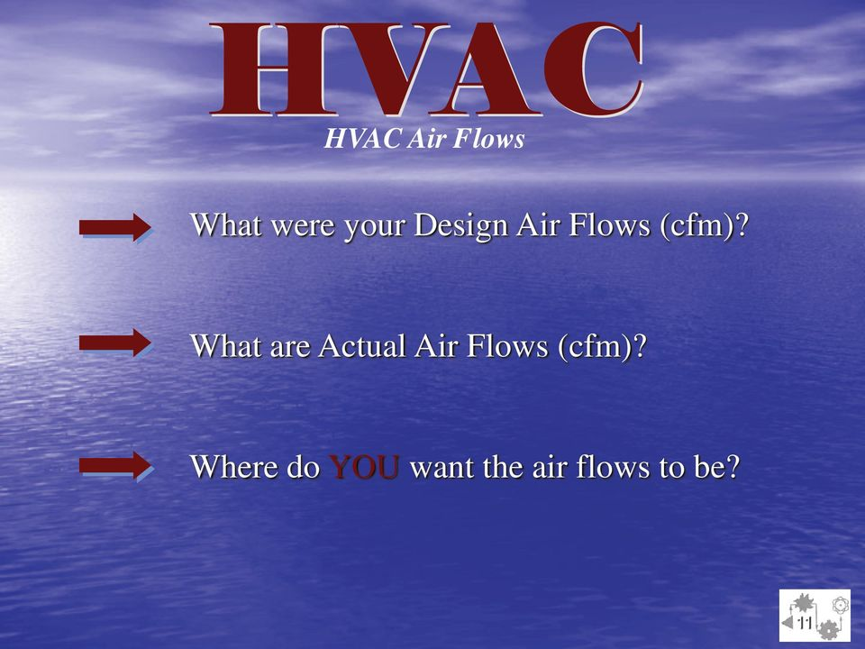 What are Actual Air Flows (cfm)?