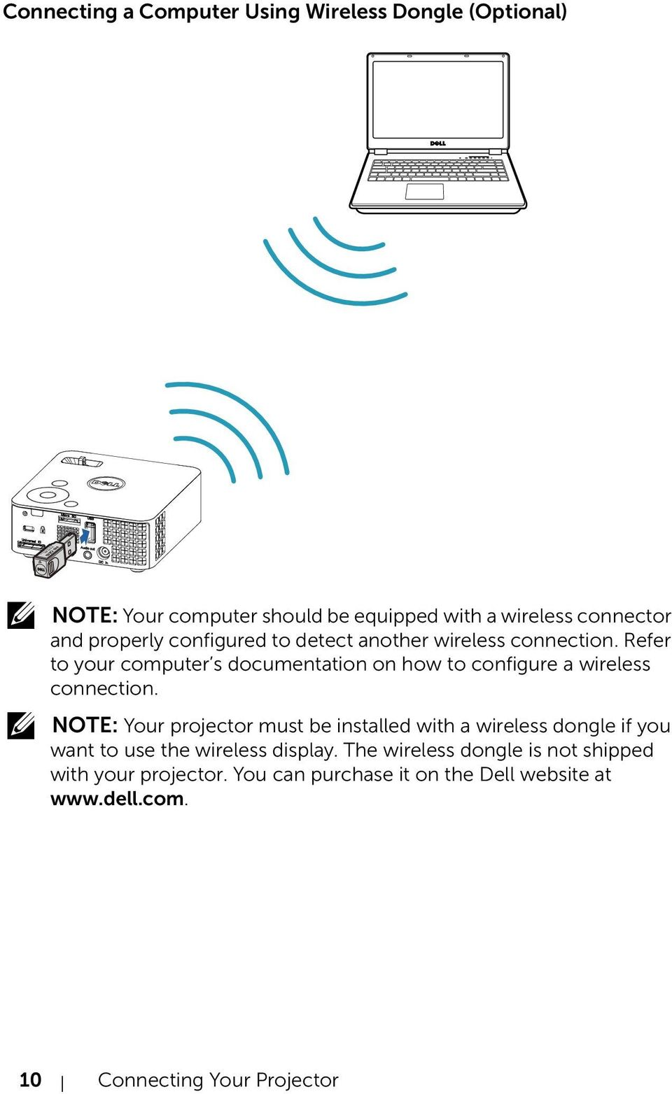 Refer to your computer s documentation on how to configure a wireless connection.