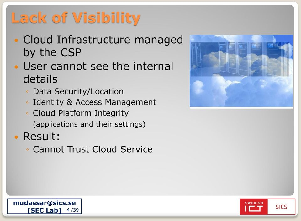 Identity & Access Management Cloud Platform Integrity
