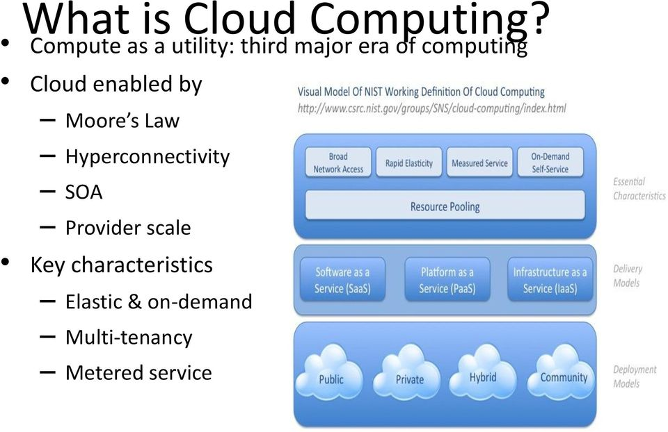 Cloud enabled by Moore s Law Hyperconnectivity SOA