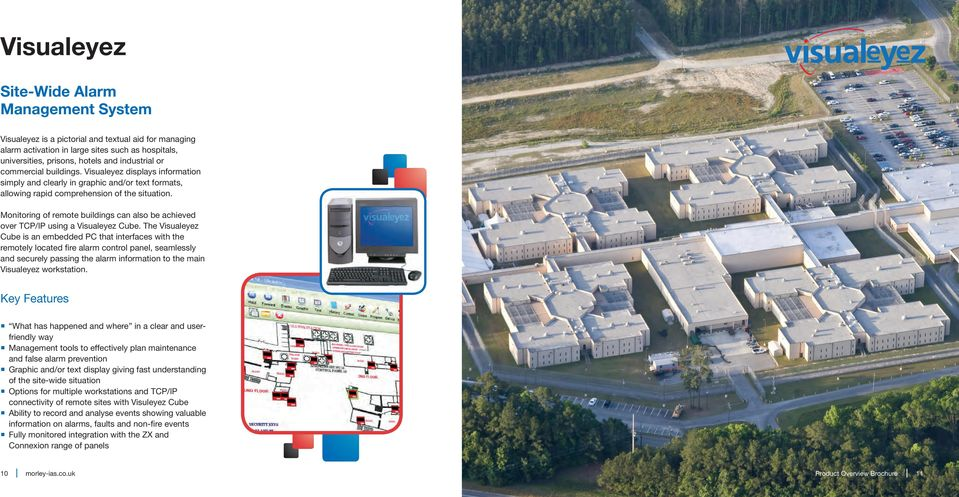 Monitoring of remote buildings can also be achieved over TCP/IP using a Visualeyez Cube.