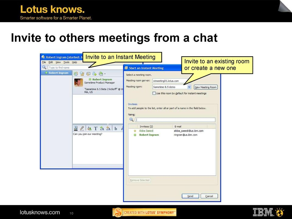 Instant Meeting 10 Invite to
